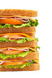 Healthy ham big sandwich Royalty Free Stock Images