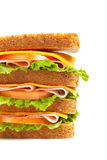 Healthy ham big sandwich Stock Photos