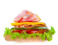 Healthy ham sandwich Stock Photography