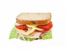 Healthy ham sandwich Royalty Free Stock Images