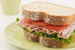 Healthy Ham sandwich Stock Images