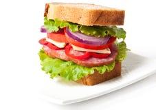 Healthy ham sandwich Stock Image