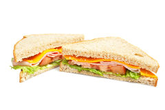 Healthy ham sandwich Stock Photos