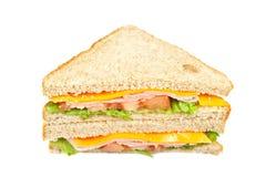 Healthy ham sandwich Royalty Free Stock Image
