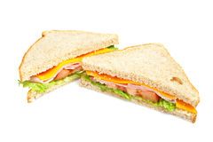 Healthy ham sandwich Royalty Free Stock Photos