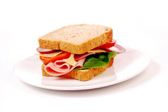 Healthy ham sandwich Stock Image
