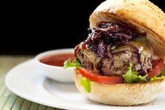 Healthy Hamburger Stock Image