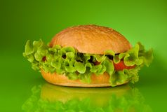 Healthy hamburger without meat Royalty Free Stock Photos