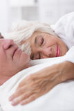 Healthy and happy senior pair Stock Images