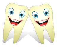 Healthy Happy Teeth. Cartoon illustration from teeth care concept, funny teeth are smiling Royalty Free Stock Image