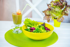 Healthy and harmful lifestyle. Royalty Free Stock Photography
