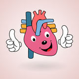 Healthy Heart cartoon Royalty Free Stock Photos