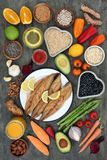 Healthy Heart Food Selection Stock Photos