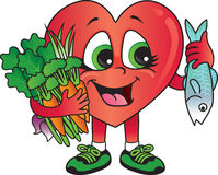 Healthy heart foods royalty free illustration