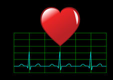 Healthy heart illustration Royalty Free Stock Images