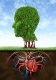Healthy Heart And Mind royalty free illustration