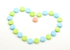Healthy Heart and Pills Stock Photo