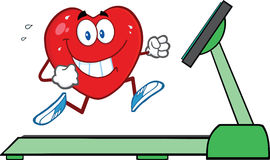 Healthy Heart Running On A Treadmill Stock Photo
