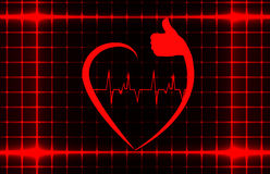 Healthy heart sign with ecg on a cover template Royalty Free Stock Image