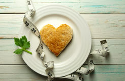 Healthy heart toast Royalty Free Stock Images