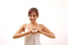 Healthy heart for woman Royalty Free Stock Images