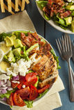 Healthy Hearty Cobb Salad Royalty Free Stock Image
