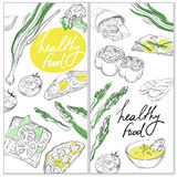 Healthy and Hearty Food. Organic restaurant banner template. Royalty Free Stock Images