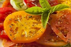 Healthy Heirloom Tomato Salad Stock Photography