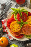 Healthy Heirloom Tomato Salad Royalty Free Stock Images