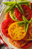 Healthy Heirloom Tomato Salad Royalty Free Stock Image