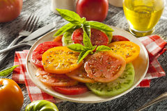 Healthy Heirloom Tomato Salad Stock Photography