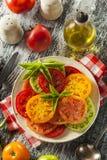 Healthy Heirloom Tomato Salad Stock Image