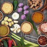 Healthy Herb and Spice Selection Stock Images