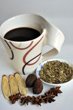 Healthy herbal tea made of spices. Such as anise stars Stock Image