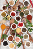 Healthy Herbs and Spices Stock Photography