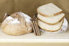 Healthy high fiber breads Royalty Free Stock Image
