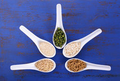 Healthy High Fiber Prebiotic Grains Royalty Free Stock Photography
