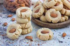Healthy homemade almond cookies without butter and flour Stock Photography