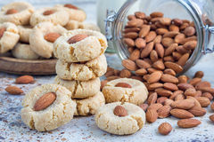 Healthy homemade almond cookies without butter and flour Stock Photos