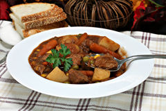 Healthy, homemade beef stew. Royalty Free Stock Photography
