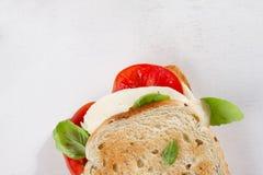 Healthy homemade caprese sandwich Royalty Free Stock Photo