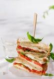 Healthy homemade caprese sandwich Stock Photos