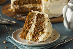 Healthy Homemade Carrot Cake Stock Image