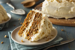 Healthy Homemade Carrot Cake Royalty Free Stock Photography