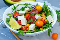 Healthy homemade chickpea and veggies salad Royalty Free Stock Images