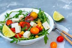 Healthy homemade chickpea and veggies salad Stock Photo