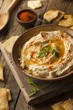 Healthy Homemade Creamy Hummus Royalty Free Stock Image