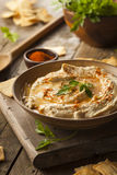 Healthy Homemade Creamy Hummus Royalty Free Stock Images
