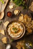 Healthy Homemade Creamy Hummus Stock Photography
