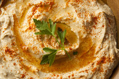 Healthy Homemade Creamy Hummus Royalty Free Stock Photo